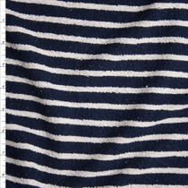 Navy and Offwhite Soft Heavyweight French Terry from'Sol Angeles' Fabric By The Yard