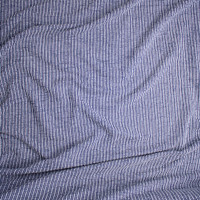 Blue and White Striped Textured Heavyweight Designer Knit from 'Sol Angeles' Fabric By The Yard - Wide shot