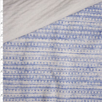Blue and White Grunge Diamond Reversible Double Layered Knit from 'Sol Angeles' Fabric By The Yard