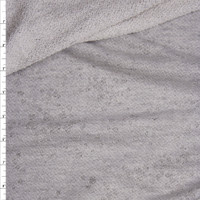 Light Grey Heather Distressed Midweight French Terry Fabric By The Yard