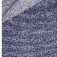 Indigo Denim Look Lightweight Rayon French Terry Fabric By The Yard