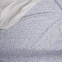 Light Grey and Blue Heather Midweight Cotton French Terry Fabric By The Yard - Wide shot