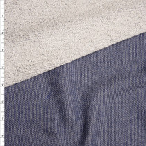 Indigo Midweight Stretch French Terry Fabric By The Yard