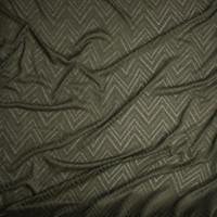 Olive Green Burnout Chevron Pattern Soft Rayon Sweater Knit Fabric By The Yard - Wide shot