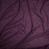 Plum Burnout Chevron Pattern Soft Rayon Sweater Knit Fabric By The Yard - Wide shot