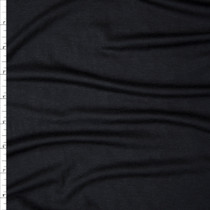 Black Modal/Lycra Stretch Micro Rib Knit Fabric By The Yard