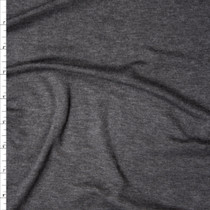 Dark Grey Heather Modal/Lycra Stretch Micro Rib Knit Fabric By The Yard