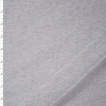 Heather Grey Heavyweight Stretch Cotton Jersey Knit Fabric By The Yard
