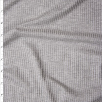 Heather Grey Lightweight Rib Knit Fabric By The Yard