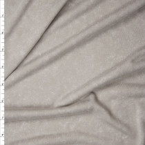 Soft Taupe Mottled Brushed Jersey Knit Fabric By The Yard