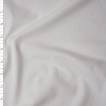 White Stretch Cotton Piqué Knit Fabric By The Yard
