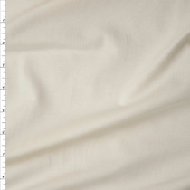 Ivory Midweight Stretch Cotton/Lycra Jersey Knit Fabric By The Yard