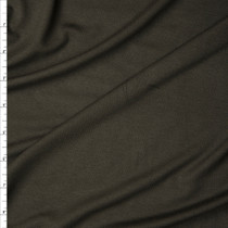 Dark Olive Green Stretch Midweight Rayon Jersey Knit Fabric By The Yard
