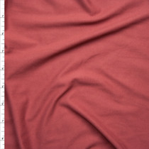 Soft Brick Double Brushed Poly Spandex Knit Fabric By The Yard