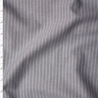 Grey on Grey Striped Midweight Chambray from 'Rag N' Bone' Fabric By The Yard
