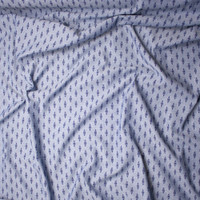 Blue on Blue Diamond Print Chambray Fabric By The Yard - Wide shot