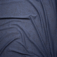 Black and Navy Cheetah Designer Textured Double Knit Fabric By The Yard - Wide shot
