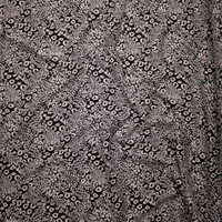 Black and Tan Mixed Leopard Designer Textured Double Knit Fabric By The Yard - Wide shot