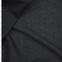 Black Clip Dot Cotton Lawn Fabric By The Yard