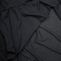 Black Clip Dot Cotton Lawn Fabric By The Yard - Wide shot