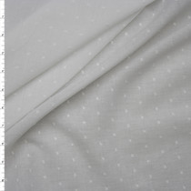 White Clip Dot Cotton Lawn Fabric By The Yard