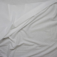 White Clip Dot Cotton Lawn Fabric By The Yard - Wide shot
