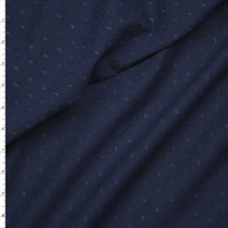 Navy Clip Dot Cotton Lawn Fabric By The Yard