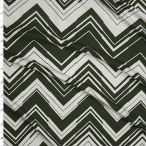 Olive and White Chevron Pattern Double Brushed Poly/Spandex Knit Fabric By The Yard