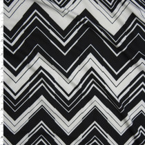 Black and White Chevron Pattern Double Brushed Poly/Spandex Knit Fabric By The Yard