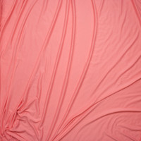 Bubblegum Pink Double Brushed Poly/Spandex Knit Fabric By The Yard - Wide shot