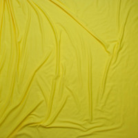 Canary Yellow Double Brushed Poly/Spandex Knit Fabric By The Yard - Wide shot
