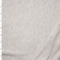 Pale Grey Heather Lightweight French Terry Fabric By The Yard