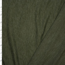 Olive Green Heather Soft French Terry Fabric By The Yard