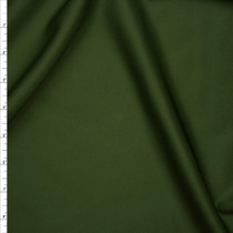 Solid Olive Green Scuba Knit Fabric By The Yard