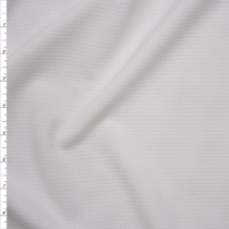 Solid White Braided Texture Liverpool Knit Fabric By The Yard