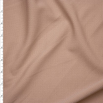 Solid Nude Braided Texture Liverpool Knit Fabric By The Yard