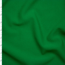 Solid Kelly Green Braided Texture Liverpool Knit Fabric By The Yard
