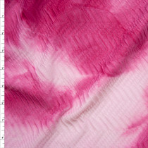 Pink Tie Dye Snakeskin Textured Stretch Double Knit Fabric By The Yard
