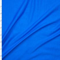 Bright Blue Lightweight 4-way Stretch Rayon Lycra Jersey Knit Fabric By The Yard