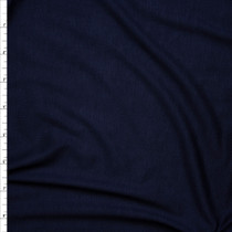 Navy Blue Lightweight 4-way Stretch Rayon Lycra Jersey Knit Fabric By The Yard