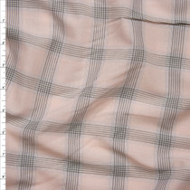 Blush, Light Blue, and Grey Plaid Voile from 'Rebecca Taylor' Fabric By The Yard