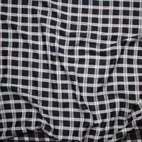 Black and White Windowpane Check Cotton Voile from 'Rag N' Bone' Fabric By The Yard - Wide shot