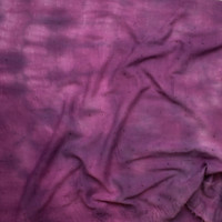 Plum Tie Dye Wavy Floral Cotton Gauze Eyelet Fabric By The Yard - Wide shot