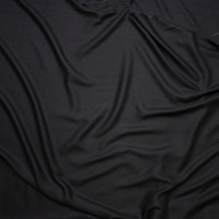 Black 'Paris Rayon Crepe' by Robert Kaufman Fabric By The Yard - Wide shot