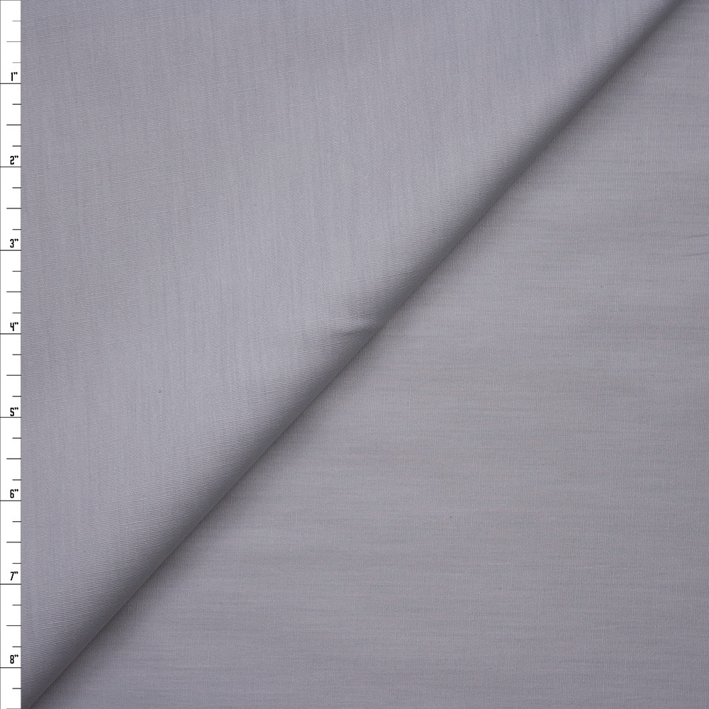 Light Grey Stretch Cotton Broadcloth Fabric By The Yard