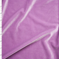 Lilac 4-way Stretch Velvet Fabric By The Yard