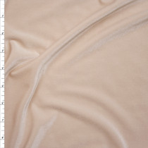 Ivory 4-way Stretch Velvet Fabric By The Yard
