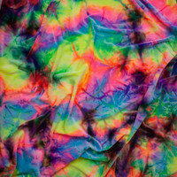 Tie Dye 4-way Stretch Velvet Fabric By The Yard - Wide shot