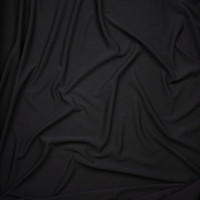 Black Crepe Textured Liverpool Knit Fabric By The Yard - Wide shot