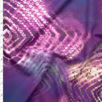 Plum Abstract Diamonds and Scales Nylon/Lycra Fabric By The Yard